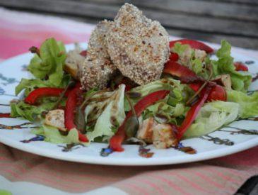 Salade de thon au sésame