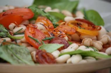 Salade de haricots blancs au chorizo