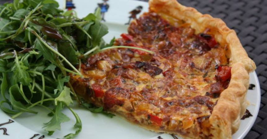 Recette tarte poivrons ma p 39 tite cuisine - Ma p tite cuisine ...