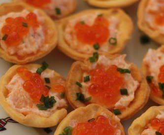 Tartelettes aux rillettes de saumon fumé