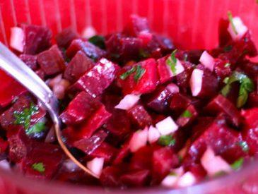 Salade de betterave au fenouil