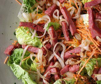 Salade crudités & lardons de canard