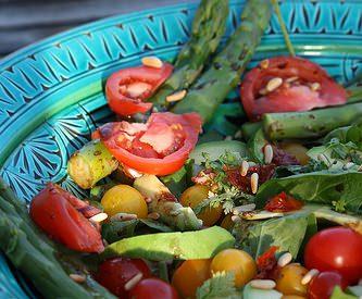 Salade aux légumes verts …