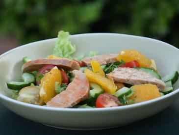 Salade de foie de lotte