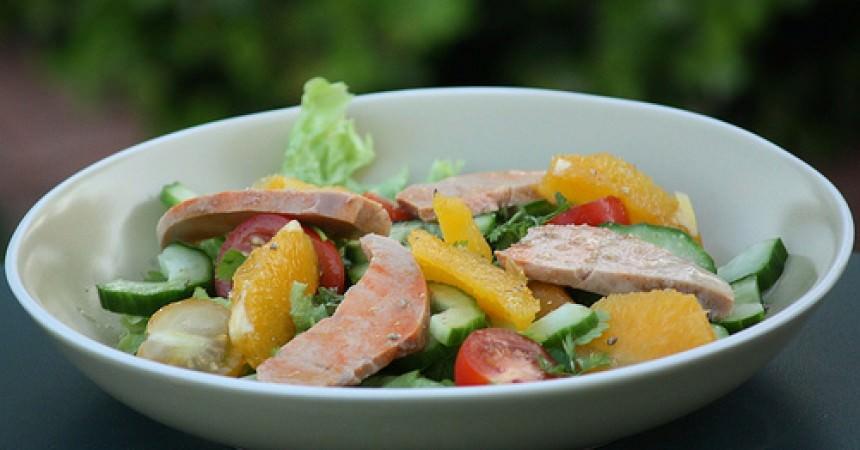 Salade au foie de lotte ma p 39 tite cuisine - Cuisiner le foie de lotte ...