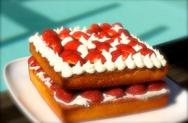 Victoria cake aux fraises