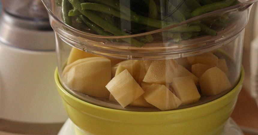 Pur e de haricots verts au lait de coco d s 12 mois ma - Cuisiner haricots verts surgeles ...