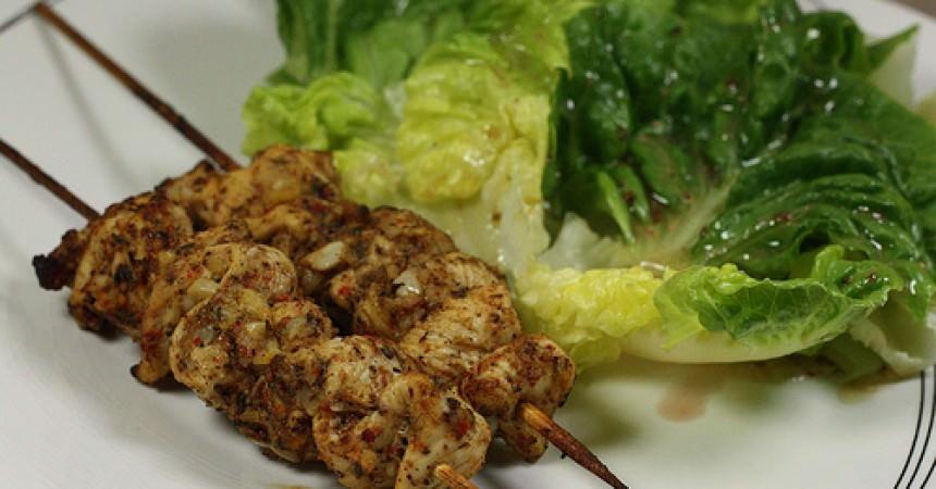 Poulet chich Taouk, une recette Libanaise de brochettes de poulet