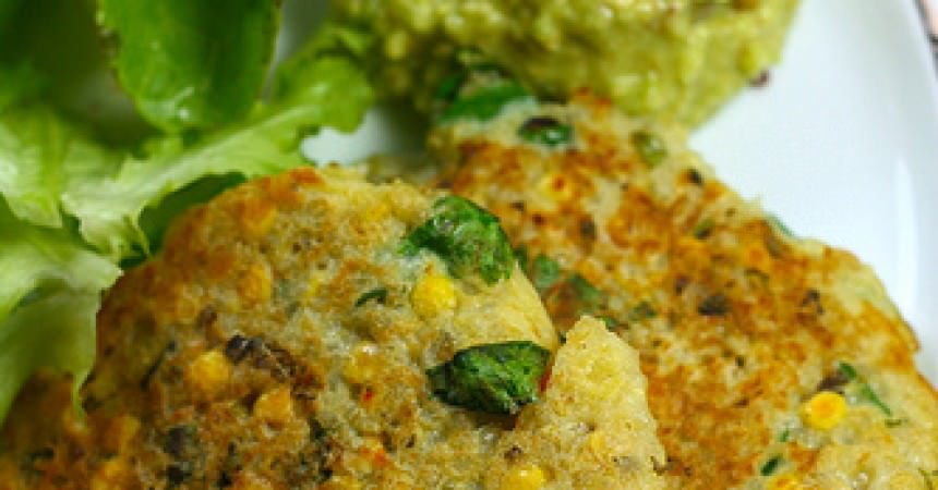 Galettes de quinoa & lentilles corail