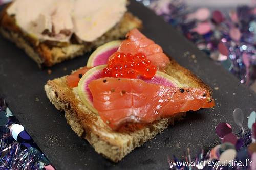 Recettes de tartines au saumon et foie gras ma p 39 tite cuisine - Repas de noel vegetarien marmiton ...