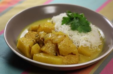 Curry de porc à l'ananas, avec HelloFresh