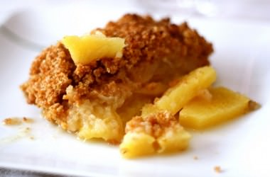 Crumble pomme ananas