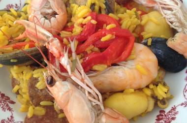 Paella maison aux fruits de mer