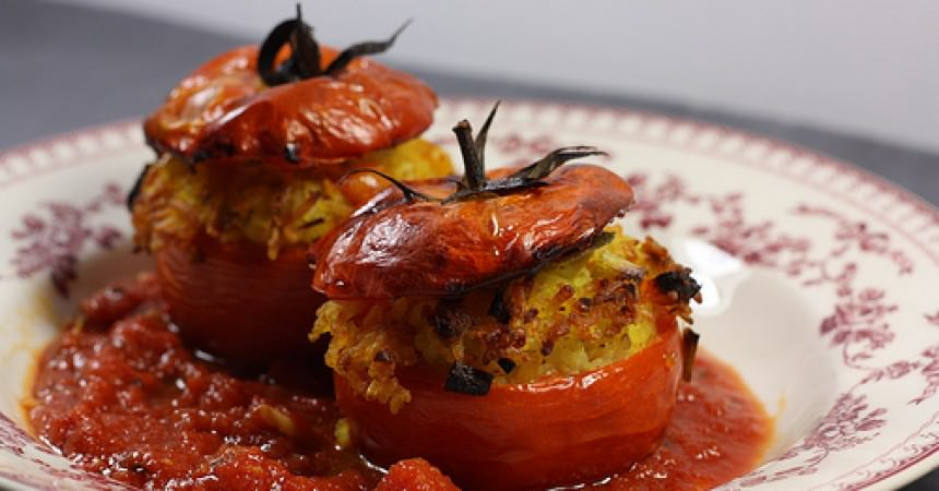 tomates farcies v g tariennes ma p 39 tite cuisine. Black Bedroom Furniture Sets. Home Design Ideas