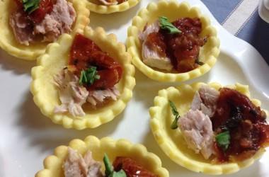Tartelette thon & tomates séchées
