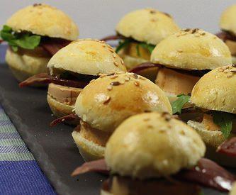 Mini burgers foie gras & magret fumé