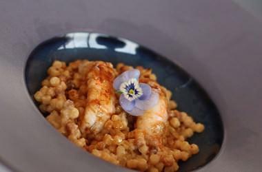 Cours de cuisine au Saint James à Bouliac, & un Rissotto de fregola aux langoustines
