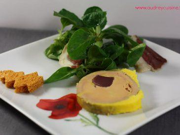 Recette du Foie gras de canard maison, farci aux gésiers confits