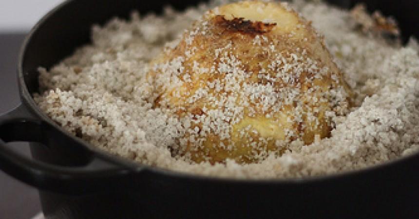 Céleri en croute de sel