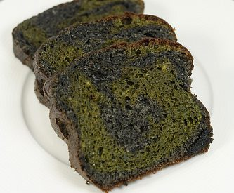 Cake au matcha et sésame noir  [recette japonaise]