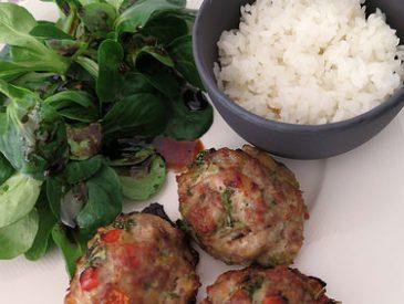 Pork meatball, les p'tites boulettes de porc parfumées aux légumes