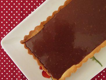 Tarte au chocolat au caramel