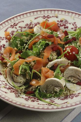 salade quinoa saumon