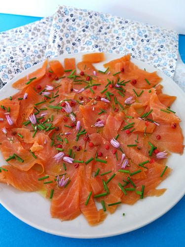 saumon mariné au citron