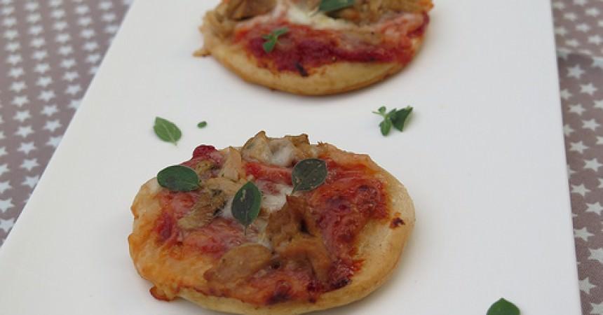 Petites pizza tomates, thon au basilic & mozzarella