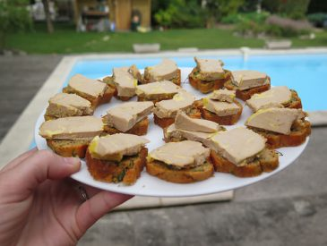 Cake aux herbes & foie gras