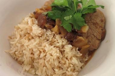 Wok de porc aux shitakés, sauce Teriyaki gingembre & sésame
