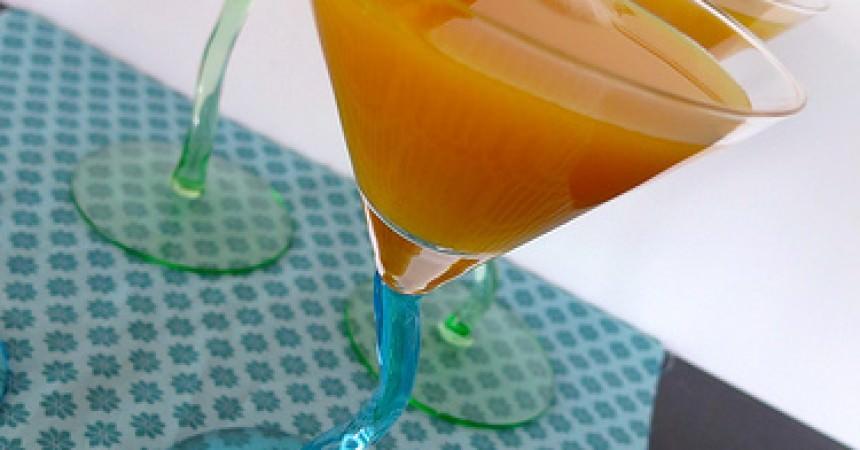 Cocktail de St Valentin, au fruit de la passion, gingembre & mangue