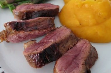 Filets de canette au miel & vin rouge
