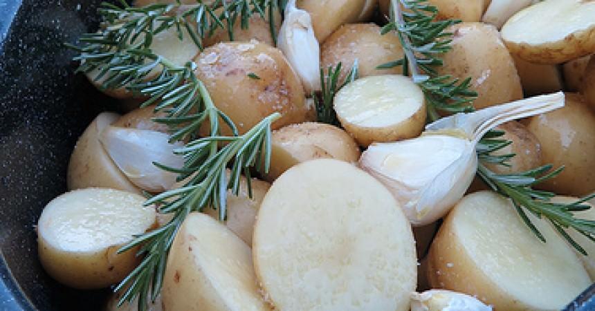 Pommes de terre nouvelles l 39 ail et au romarin ma p 39 tite cuisine - Cuisiner des pommes de terre nouvelles ...