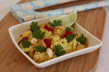 Riz aux épices indiennes et noix de cajou [recette Indienne]