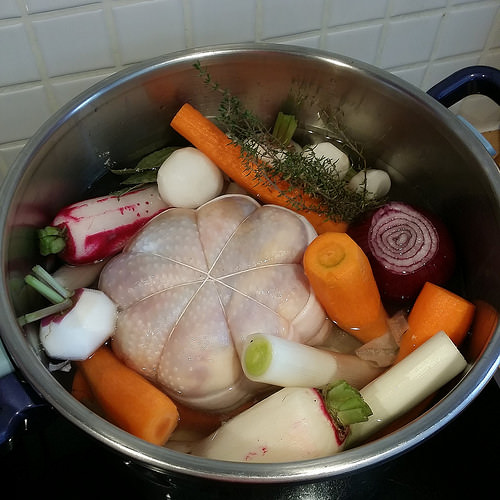Ma version de la poule au pot ma p 39 tite cuisine - Cuisine poule au pot ...