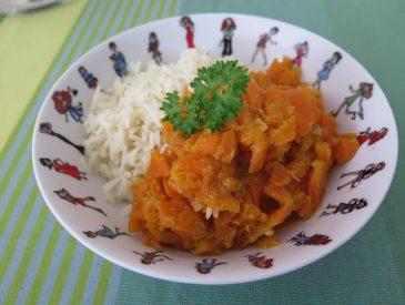 Curry de carottes au lait de coco [recette Indienne]