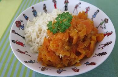 Curry de carottes au lait de coco