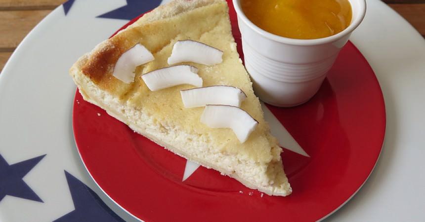 Tarte au fromage blanc & citron vert, plus raisonnable qu'un cheesecake
