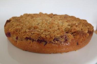 Gâteau crumble aux framboises, ou crumb-cake