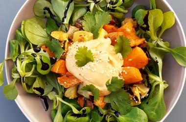 Courgettes & patates douces rôties pour un plat complet végétarien