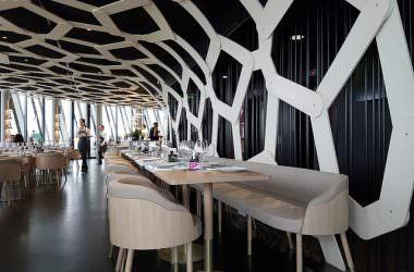 Restaurant le 7, au 7ème étage de la Cité du Vin à Bordeaux