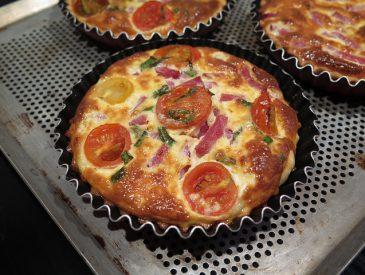 Tartelettes bacon & tomates cerises