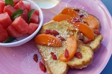 Brioche perdue aux abricots & baies de goji