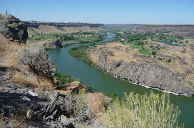 L'Ouest Américain, entre Baker City, l'Oregon trail et la Rivière Snake (Oregon, USA)
