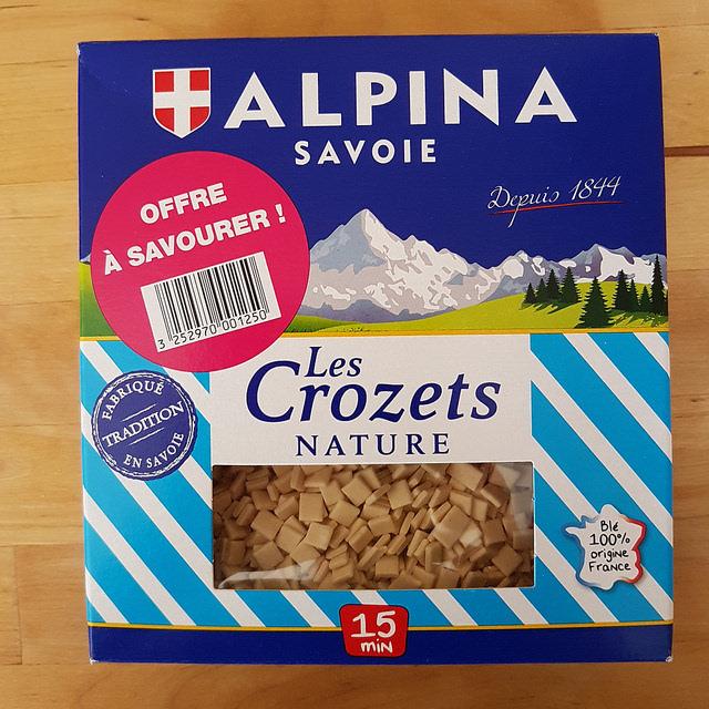 recette avec crozets Alpina Savoie nature