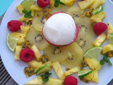 La p'tite salade de fruits exotiques plus que parfaite