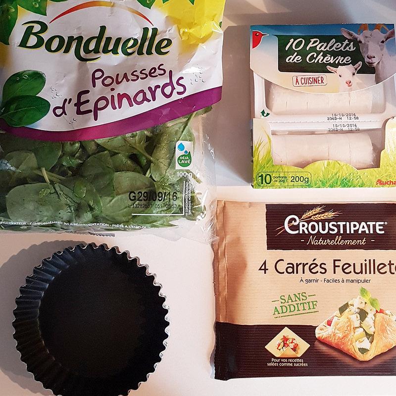 Ingredients-tartelette-epinards-chevre