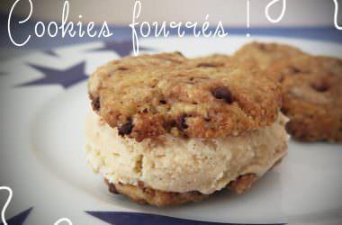 Sandwich glacé vanille & pécan