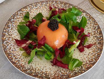 Dômes au saumon fumé & caviar d'Aquitaine